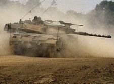 Israelischer Panzer im Gaza-Streifen; Foto: AP