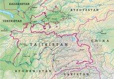 Karte Tadschikistan; Wikipedia © Creative Commons