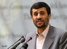 Irans Präsident Mahmud Ahmadinedschad; Foto: AP