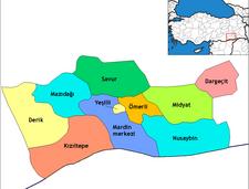 Kartenauszug der türkischen Provinz Dargeçit; Foto: wikipedia.de