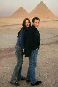 Sarkozy und Bruni in Ägypten; Foto: AP
