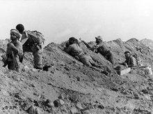 Soldaten ander iranisch-irkaischen Front in den 1980er Jahren; Foto: AP