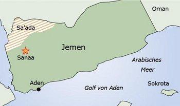 Karte des Jemen; Quelle: DW