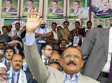 Jemens Präsident Ali Abdullah Saleh; Foto: AP
