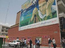 Wandmalerein in Teheran; Foto: AP