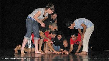 Studenten der Drama Academy bei einerProbe; Foto: &copy Drama Academy