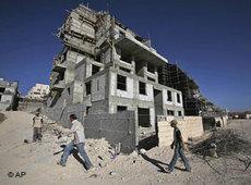 Siedlungsbau im Westjordanland; Foto: AP