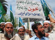 Anhänger der Jamat-i Islami in Peschwar; Foto: AP
