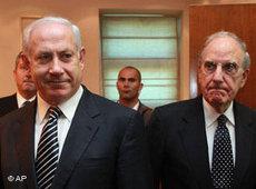 George Michtell (rechts) bei seinem Treffen im September 2009 mit Benjamin Netanjahiu in Jerusalem; Foto: AP