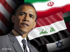 Symbolbild US-Präsident Obama/Nahost; Foto: AP/DW