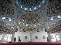 Innenansicht der Merkez-Moschee in Duisburg; Foto: AP