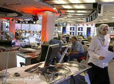Arabisches TV-Studio; Foto: dpa