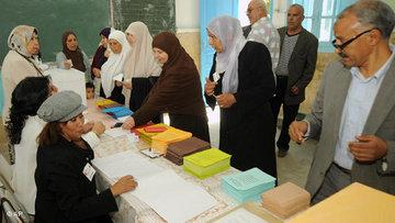 Wahllokal in Tunesien; Foto: AP
