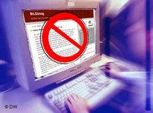 Symbolbild Internetzensur; Foto: DW