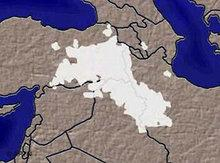 karte des Kurdengebietes; Foto: AP/DW