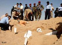 Massengrab in Bagdad; Foto: AP