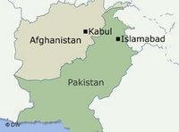 Karte Grenzregion Pakistan Afghanistan Foto: DW