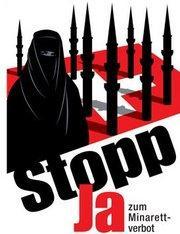 Plakat der Anti-Minarett-Kampagne