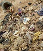 Massengrab ermordeter Kurden im Irak; Foto: dpa