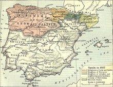 Karte des maurischen Spaniens im Jahre 1037; Foto: &copy University of Texas