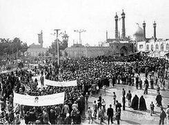 Demonstrationen gegen den Schah in Ghom 1979; Foto: AP