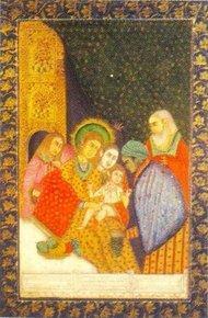Islamisches Bildnis der Geburt Jesus; Foto: National Museum, Neu Delhi