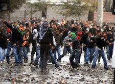 Kurdische Proteste in Südostanatolien; Foto: AP