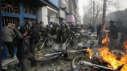 Unruhen im Iran während des Ashura-Tages; Foto: AP