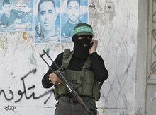 Bewaffneter Hamas-Aktivist in Gaza; Foto: AP