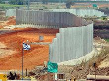 Mauer zum Westjordanland; Foto: picture alliance/ dpa