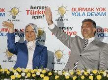 Abdullah Gül und seine Frau Hayrünnisa; Foto: AP