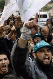 Demonstration von Hamas-Aktivisten im Gazastreifen; Foto: AP