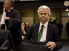 Geert Wilders vor Gericht in Amsterdam; Foto: AP