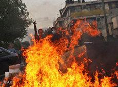 Ausschreitungen am Ashura-Tag in Teheran; Foto: AP