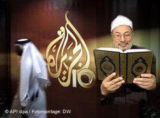 Symbolbild Yusuf al-Qaradawi/Al-Dschsira; Foto: dpa/DW/AP