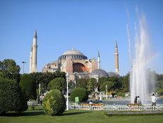 Blick auf die Hagia Sophia in Istanbul; Foto: dpa