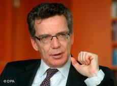 Bundesinnenminister Thomas de Maiziere; Foto: dpa