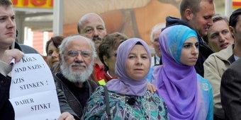 Demonstration gegen Pro Köln; Foto: dpa