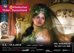Plakat des 15. Filmfestivals Türkei Deutschland in Nürnberg