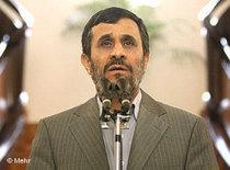 Präsident Ahmadinejad; Foto: DW/Mehr
