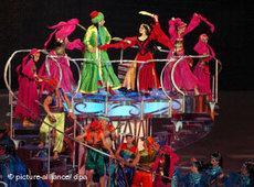 Theater-Szene aus 1001 Nacht während der 15. Asienspiele in Doha; Foto: dpa
