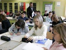 Unterricht an einer Bremer Schule; Foto: AP