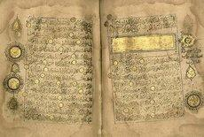 Koranausgabe aus dem 13. Jahrhundert; Foto: AP