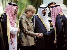 Bundeskanzlerin Angela Merkel auf Staatsbesuch in Saudi-Arabien; Foto: AP
