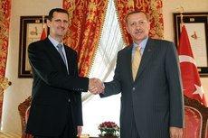 Syriens Präsident Assad und der türkische Ministerpräsident Erdogan; Foto: AP