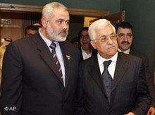 Ismail Haniya und Mahmud Abbas; Foto: AP