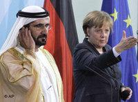 Merkel und al-Maktoum; Foto: AP