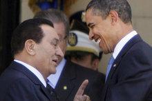 Ägyptischer Staatspräsident Mubarak und US-Präsident Obama; Foto: AP