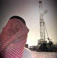 Saudi-Arabischer Ölbohrturm; Foto: dpa