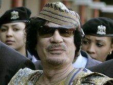 Libyens Staatschef Muammar al-Gaddafi; Foto: AP